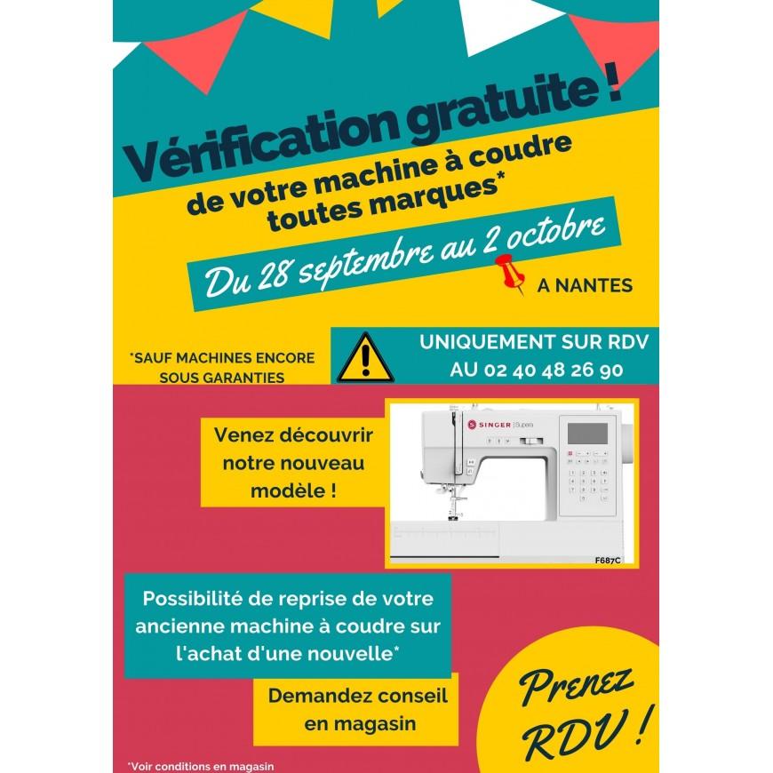 VERIFICATION GRATUITE DE VOTRE MACHINE A COUDRE A NANTES
