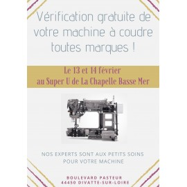 VERIFICATION GRATUITE DE VOTRE MACHINE A COUDRE AU SUPER U DE LA CHAPELLE BASSE MER