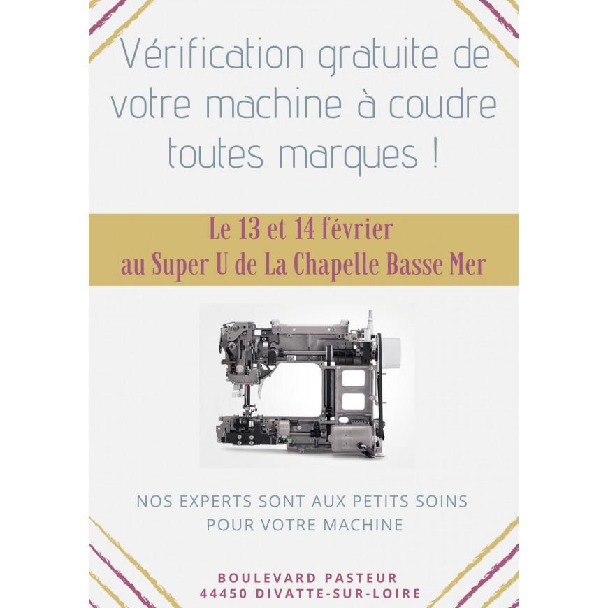 VERIFICATION GRATUITE DE VOTRE MACHINE A COUDRE AU SUPER U DE LA CHAPELLE BASSE MER