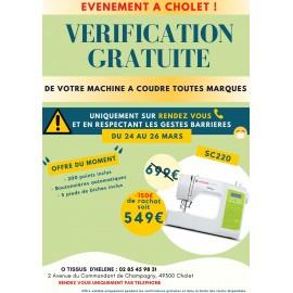 VÉRIFICATION GRATUITE DE VOTRE MACHINE A COUDRE A CHOLET